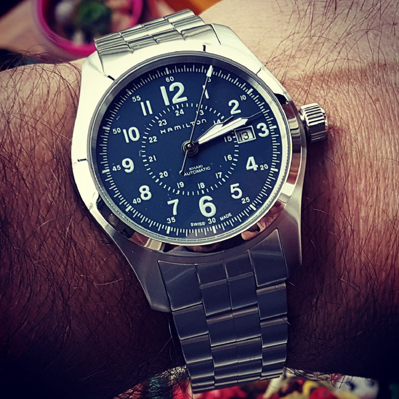Hamilton Khaki Field Auto 42 mm 100M Blue Dial Bracelet #H70605143.jpg