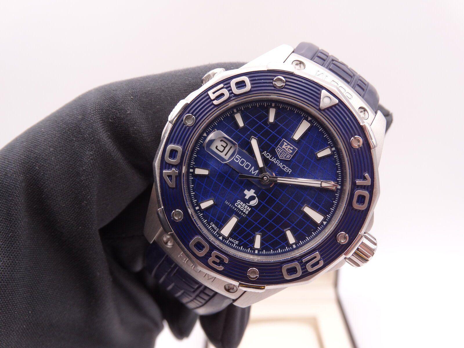 Tag Heuer Aquaracer 500 Dicaprio Green cross Blue Limited 01256.JPG