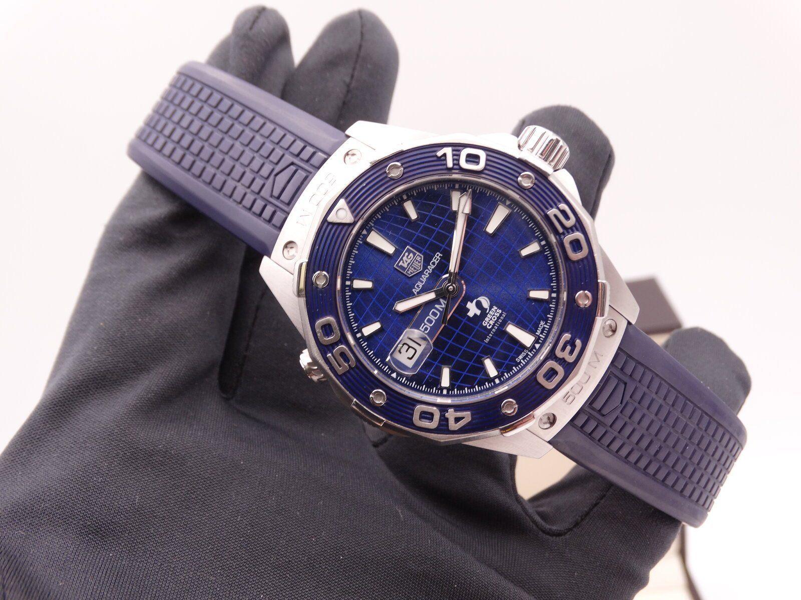 Tag Heuer Aquaracer 500 Dicaprio Green cross Blue Limited 01269.JPG