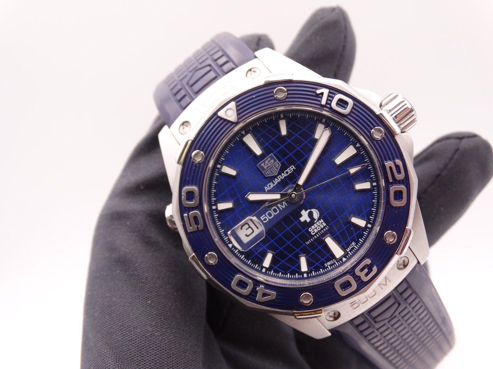 Tag Heuer Aquaracer 500 Dicaprio Green cross Blue Limited 01271.JPG